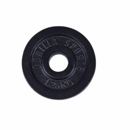 Valurautainen Levypaino 1,25kg Musta