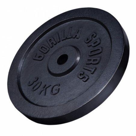 Valurautainen Levypaino 30kg Musta