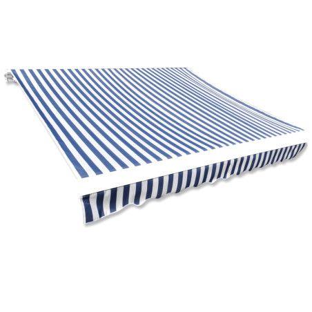 Markiisikangas sininen & valkoinen 4 x 3 m (ei sisällä runkoa)