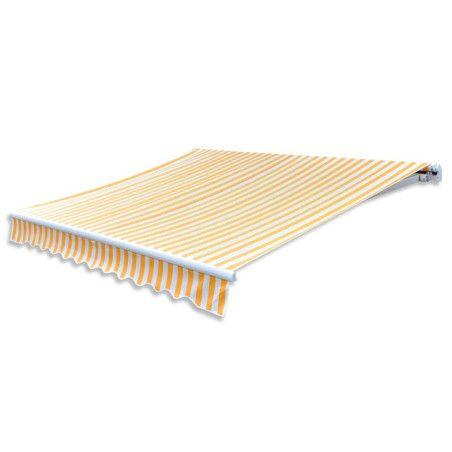 Markiisi-/aurinkovarjo auringonkukan keltainen/valkoinen 6x3 m