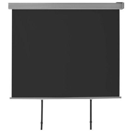 Parvekkeen sivumarkiisi monitoimintoinen 150x200 cm musta
