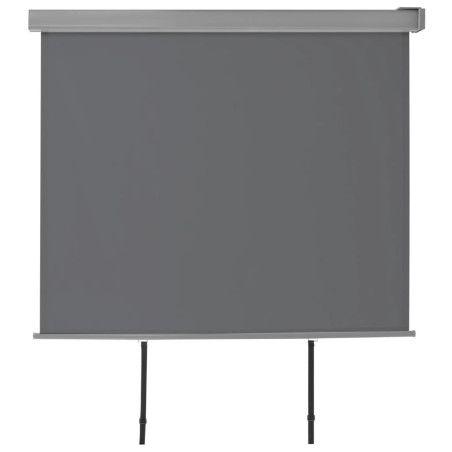 Parvekkeen sivumarkiisi monitoimintoinen 150x200 cm harmaa