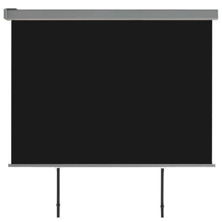 Parvekkeen sivumarkiisi monitoimintoinen 180x200 cm musta