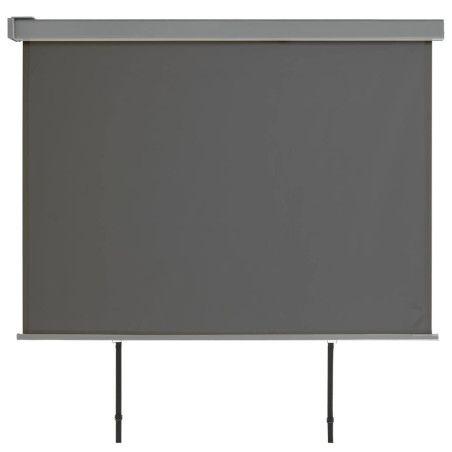 Parvekkeen sivumarkiisi monitoimintoinen 180x200 cm harmaa