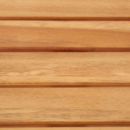 5-osainen baaripöytä setti, täysi akaasia ja ruostumaton teräs