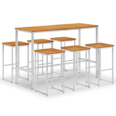 Baaripöytä ja tuolit 6+1