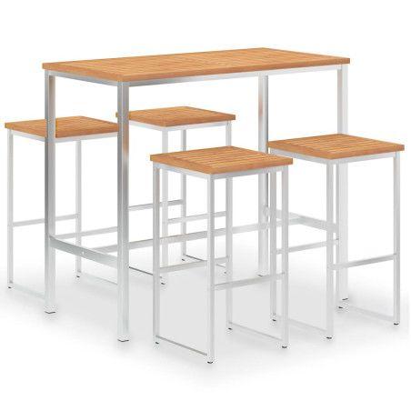 Baaripöytä ja tuolit 4+1