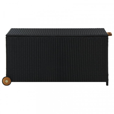 Puutarhan säilytyslaatikko musta 130x65x115 cm polyrottinki