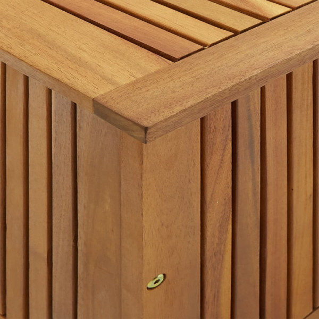Puutarhan varastolaatikko 90x50x106 cm täysi akaasiapuu