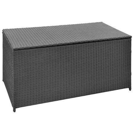 Puutarhan säilytyslaatikko musta 120 x 50 x 60 cm polyrottinki