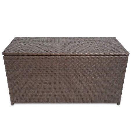 Puutarhan säilytyslaatikko ruskea 120 x 50 x 60 cm polyrottinki