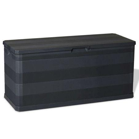 Puutarhan Varastoarkku musta 117x45x56 cm